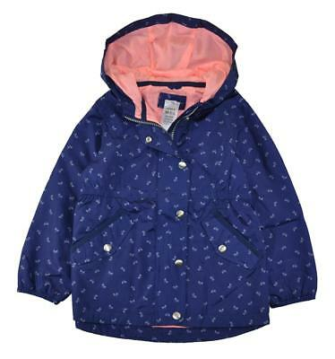 Carter's Girls Navy Blue Water Resistant Jacket Size 5/6 6X $44