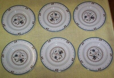 "6 Vintage ROYAL DOULTON ""OLD COLONY"" Pattern BREAD PLATES 6-5/8"""