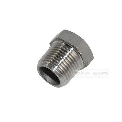 "10x 1/2"" Male x 1/4"" Female Stainless SS304 thread Reducer Bushing Pipe Fit NPT"