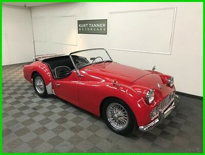 1960 Triumph TR3 60-SPOKE CHROME WIRE WHEELS. 4-SPEED, FULL-SYNCROMESH 1960 TRIUMPH TR3A SPORTS ROADSTER. UPGRADED 2.2 LITER ENGINE. NICE DRIVING CAR.