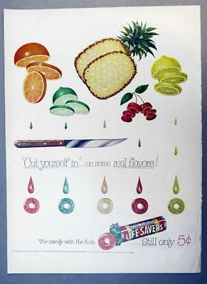 EYECATCHING Original 1953 Life Savers Ad CUT YOURSELF IN ON SOME REAL FLAVORS