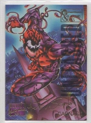 1995 Fleer Marvel Masterpieces CARNAGE E-Motion Parallel Gold Signature Card #21