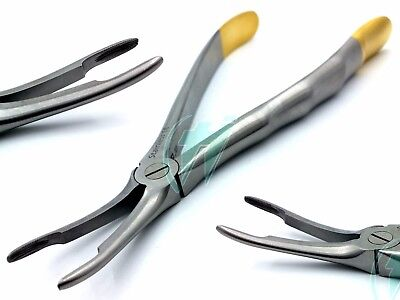 German Stainless Root Tip Dental Extracting Extraction Forceps Curved #44