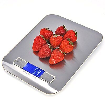 Comz LE-K09 Stainless Steel Digital Multifunction Food Kitchen Scale with White