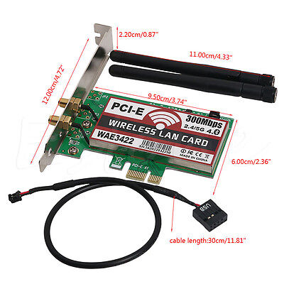 Bluetooth4.0 2.4G/5G PCI-e Network Wireless Lan Card Wlan WiFi 300Mbps Network