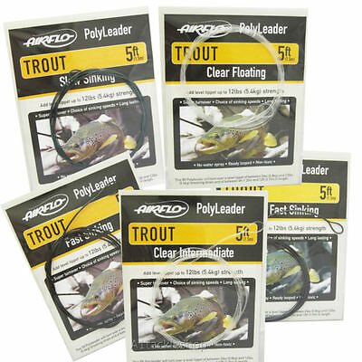 Airflo Polyleaders Light Trout, Trout, Sea Trout & Salmon