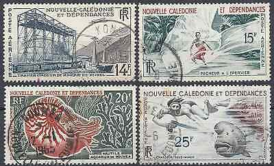 New Caledonia Pa N°66/69 - Obliteration Stamp Has Date