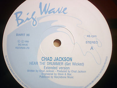 "Chad Jackson - Hear The Drummer Get Wicked  12"" Monster 1990 Nm"