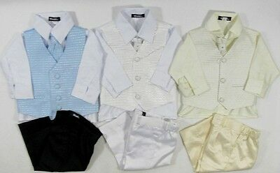 Baby Babies Childrens Four 4 Piece Suit Formal Wedding Christening Set Page Boy