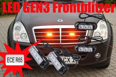 Frontblitzer 2x Grille Lights GENIII LED Straßenräumer BF3 TRI-OPTIC 12/24 Volt