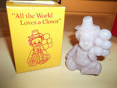 A Mosser Glass Clown Titled All The World Loves A Clown In Original Box