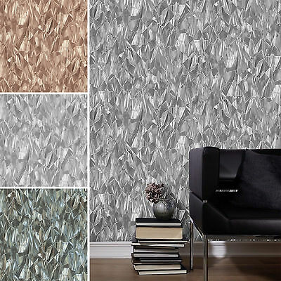 3D Effect Crushed Crystal Geometric Modern Wallpaper Paste The Wall Vinyl P+S