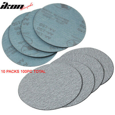 100PC 5Inch 127mm 150 Grit Auto Sanding Disc No Hole Sandpaper Sheets Sand Paper