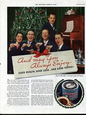 1934 Maxwell House Coffee The Show Boat Four Singers Ad