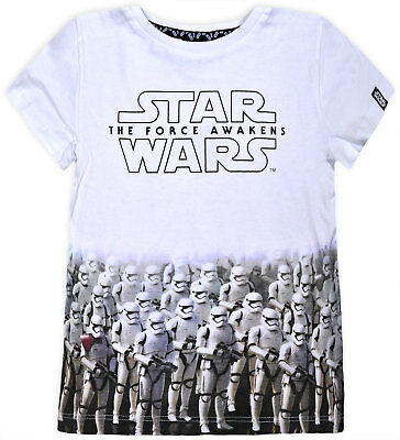 Boys Star Wars T-shirt Kids Short Sleeve 100% Cotton Disney Top Ages 1.5-8 Years