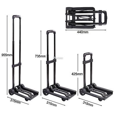 Portable Cart Folding Dolly Push Truck Hand Collapsible Trolley Luggage 40kg US