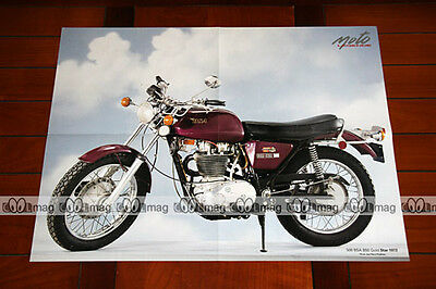 BSA 500 B50 B 50 GOLD STAR 1972 - Poster MOTO #PM135