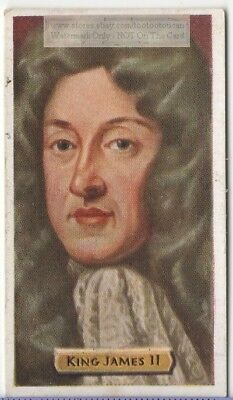 King James II Roman Catholic England House of Stuart 80+ Y/O Trade Ad Card