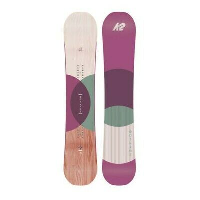 K2 Womens Snowboard - Outline - All-Mountain, Rocker, Directional - 2018