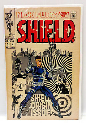 #4 NICK FURY AGENT of SHIELD 1960s Marvel Silver Age Comic Book- F/VF (NF-04)