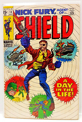 #14 NICK FURY AGENT of SHIELD 1960s Marvel Silver Age Comic Book- Fine (NF-14)