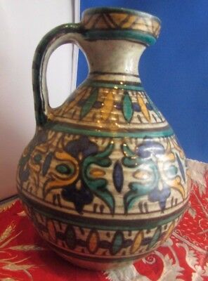very antique pottery tunisian vase pitcher nabeul tissier maghreb ceramic