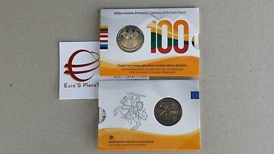 coin card 2 euro 2018 LITUANIA Baltici Lituanie Litauen Lietuva Литва Lithuania