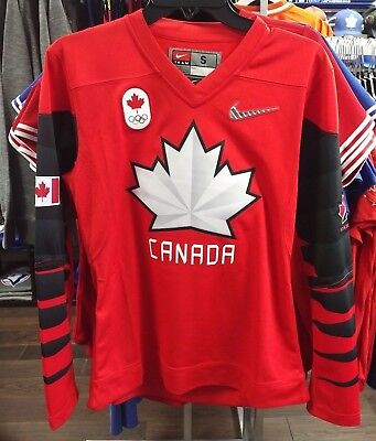2018 Team Canada IIHF Hockey Olympic Red Jersey Player Women's/Ladies X-Small