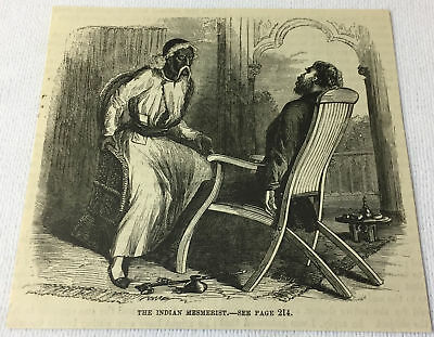 1877 magazine engraving ~ THE INDIAN MESMERIST