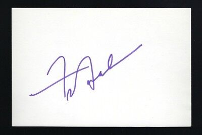"Frankie Avelon signed autograph 4""x6"" card Actor Singer Teen Idol"