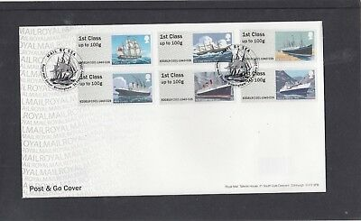 GB 2018 Post & Go Mail by Sea Roy Mail FDC Royal Mail St Birmingham pictorial pk