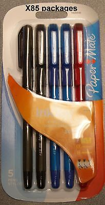 Lot of 85Packs PaperMate300 Stick Fine Point Ballpoint Pens 5pcs Colored 1760297
