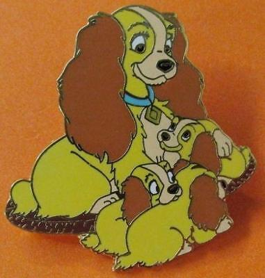 Disney Pin Lady and the Tramp Booster Collection Version #61098 - Lady & Puppies