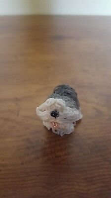 Figurine OLD ENGLISH SHEEPDOG small in resin