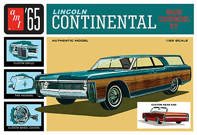 AMT 1/25 '65 Lincoln Continental Wagon Customizing PLASTIC MODEL KIT 1081