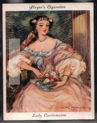 "Lady Castlemaine England's ""Uncrowned Queen"" c80 Y/O Ad Trade Card"