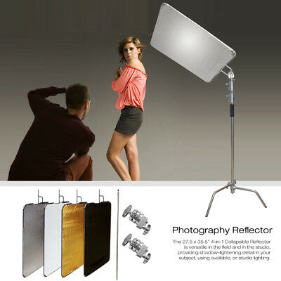 4 in 1 Photo Studio Collapsible Studio Panel Reflectors with Heavy Duty Stand