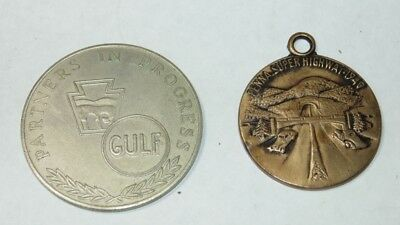 Vintage 1950 PA Turnpike GULF Eastern Extension Super Highway Souvenir Tokens