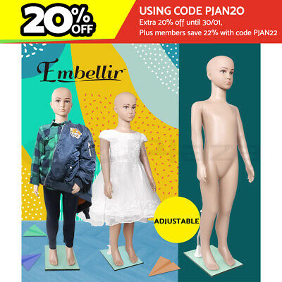 【20%OFF】Child Mannequin Full Body Kids Clothes Display Torso Dressmaking Window