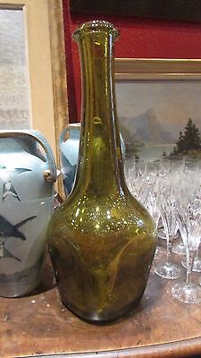 great old bottle flabby vintage glass blown dieulefit ? ca 1970 47cm