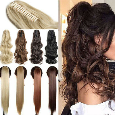 Any Shades Claw Clip on Ponytail Real Thick Pony Tail Clip in Hair Extensions HM