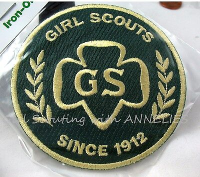"Official Girl Scout PATCH ""G.S. Since 1912"" NEW in Pkg. Badge GIFT Multi=1 Ship"