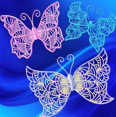 Soft Butterflies 10 Machine Embroidery Designs 2 Sizes