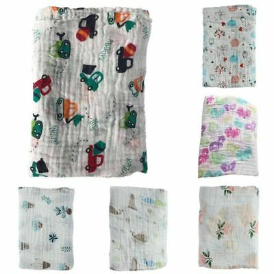 US Newborn Infant Baby Muslin Swaddle Wrap Sleeping Blanket Swaddling Bath Towel