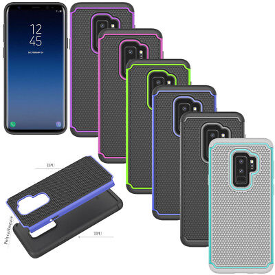 Slim Rugged Hybrid Armor Case Shockproof Rubber Cover For Samsung Galaxy S9 Plus