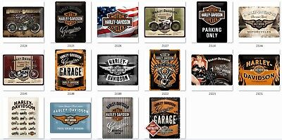 Harley Davidson Nostalgic Art Schild 30x40 Parking USA Skull Garage viele Motive