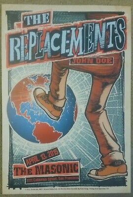 THE REPLACEMENTS Masonic Poster 2015 Fillmore