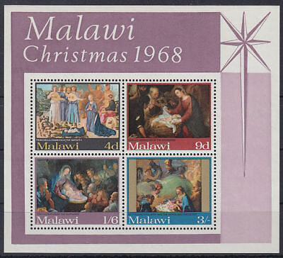 Malawi 1968 ** Bl.12 Weihnachten Christmas Gemälde Paintings [st3299]