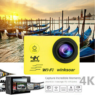 SJ9000 4K Ultra HD 1080P Wifi Waterproof Sports Action Camera Camcorder w/Remote