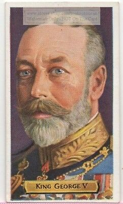 King George V England Monarch Ruler United Kingdom 80+ Y/O Trade Ad Card